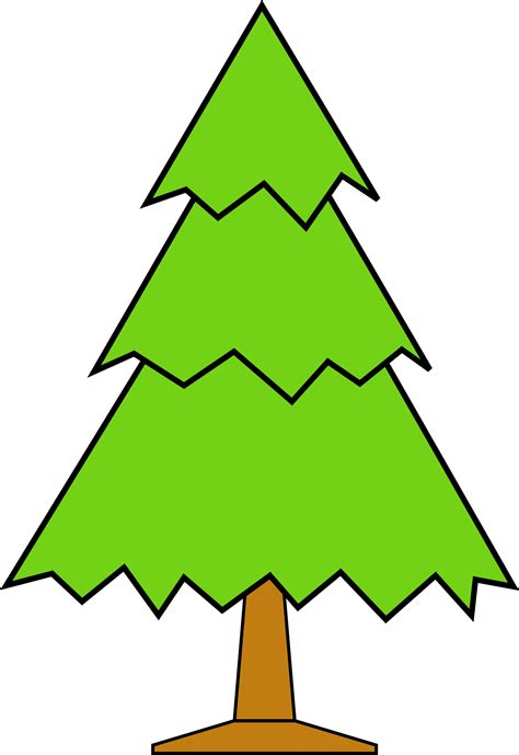 plain christmas tree cartoon
