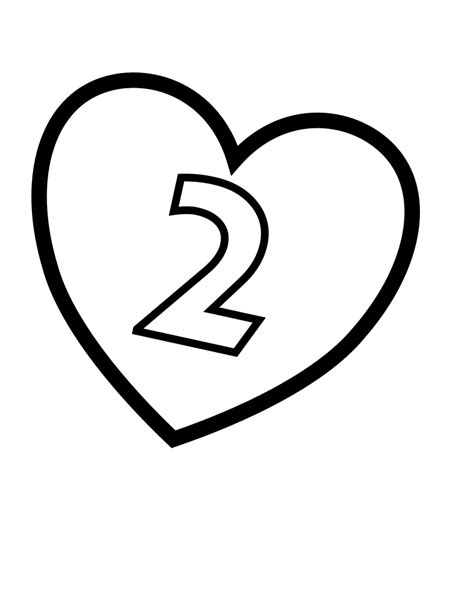 coloring pages two hearts file valentines day hearts number 2 at coloring pages for