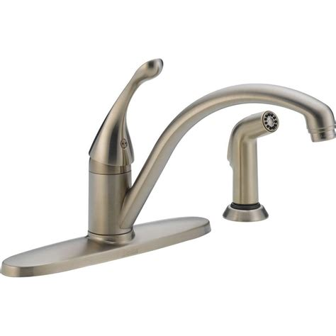 delta vessona 2 handle standard kitchen faucet with side
