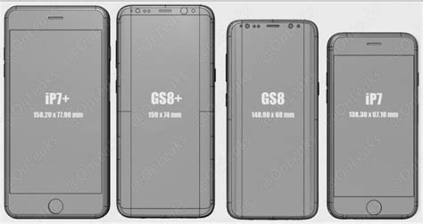 as 237 ser 225 el tama 241 o s8 y s8 de samsung comparado con el iphone 7 y 7 plus