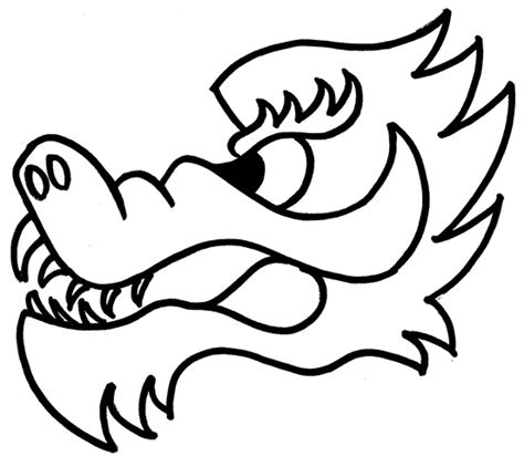 coloring pages of dragon heads gallery for gt chinese new year dragon head template