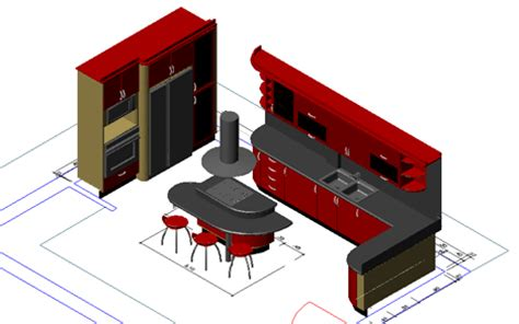 cucina in 3d cucine 3d kitchen dwg