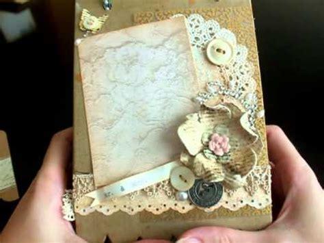 Wedding Album Journal by Vintage Wedding Album Mini Junk Journal And S Day