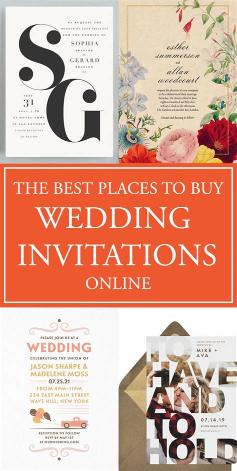 purchase wedding invitations the best places to buy your wedding invitations