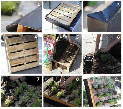 How To Build A Vertical Pallet Garden Recycled Wooden Pallet Vertical Garden Safintraroofing