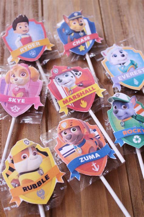 Paw Patrol Label Handuk Souvenir paw patrol lollipop labels free printable city of creative dreams