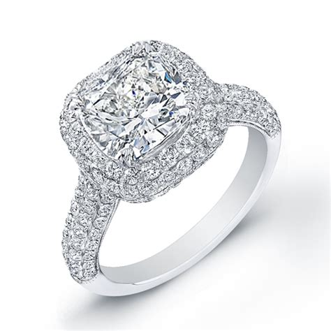 4 23 ct cushion cut engagement ring center