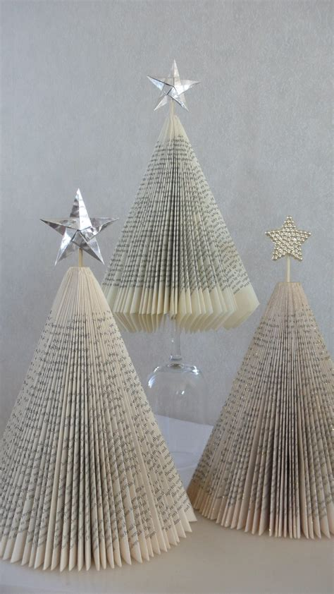 how to make trees or christmas trees out of paperback