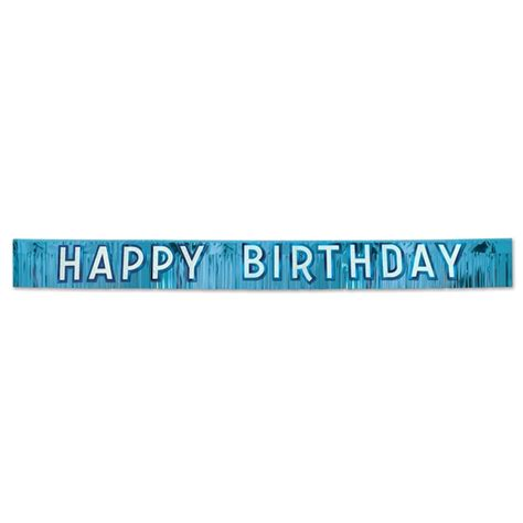Banner Happy Birthday metallic blue happy birthday banner partycheap