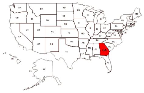 atlanta ga on us map maps and data myonlinemaps ga maps state