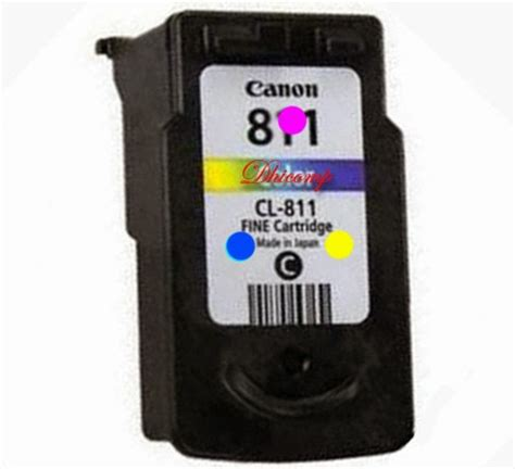 Printer Canon Warna posisi tempat warna pada cartridge cl 811 pixma ip 2770