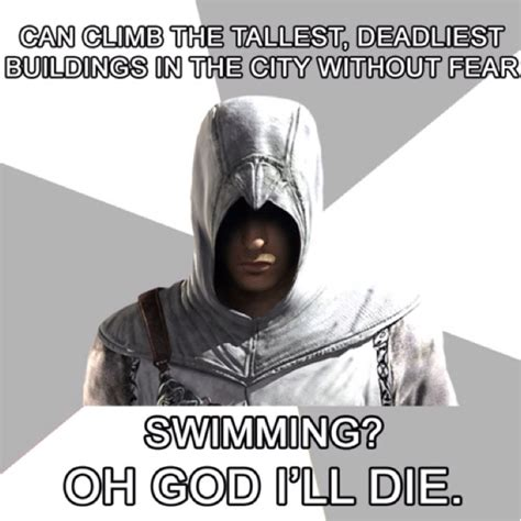Assassins Creed Memes - altair meme for adam pinterest swim the o jays and