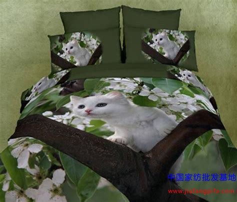 kitten bedding set luxury oil painting 100 cotton 3d king size 4pcs animal