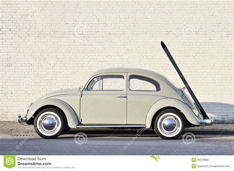 vintage volkswagen sedan volkswagen beetle in classic car show editorial image