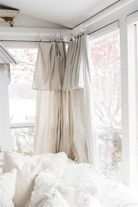 diy drop cloth curtains   sunroom decor windows