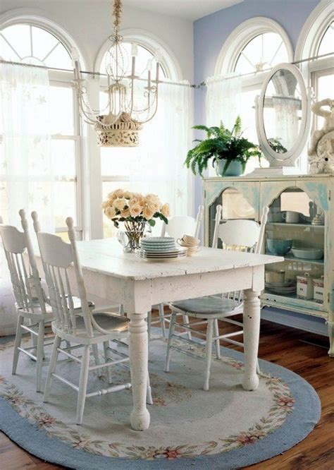 cottage style blue and white indoor beauties dining