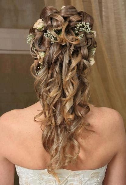 hairstyles curly hair half up half down 23 stunning half up half down wedding hairstyles for 2016