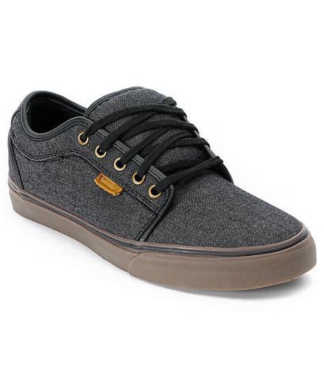 vans chukka low black canvas gum shoes at zumiez pdp
