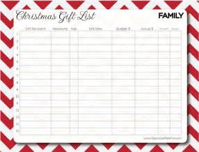 Free Printable Christmas Gift List Template Make A Gift List Day 4 Of 31 Days To Take The Stress Out
