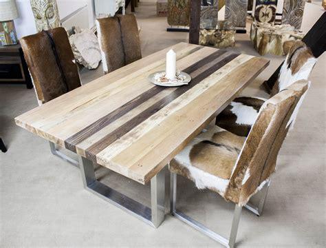 esstisch jolz esstisch aus massivholz mit edelstahl der tischonkel