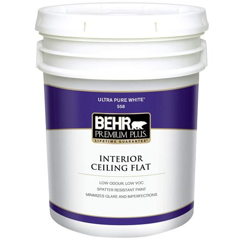 home depot 5 gallon interior paint behr premium plus 5 gal white flat ceiling interior paint