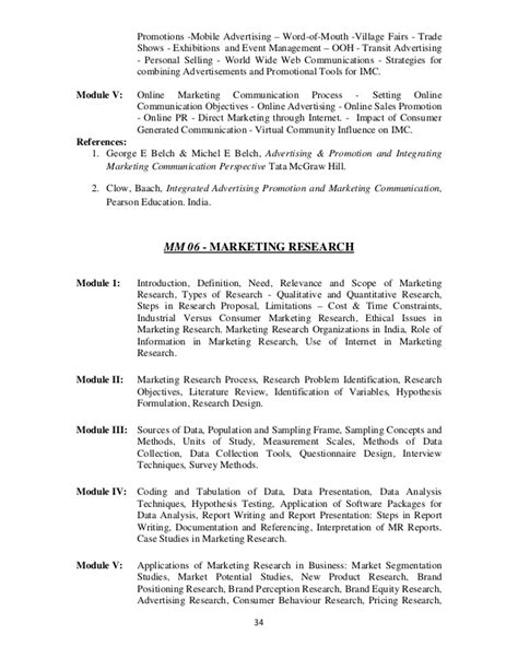 Mba User Research Course Syllabus by Mba Syllabus 2012