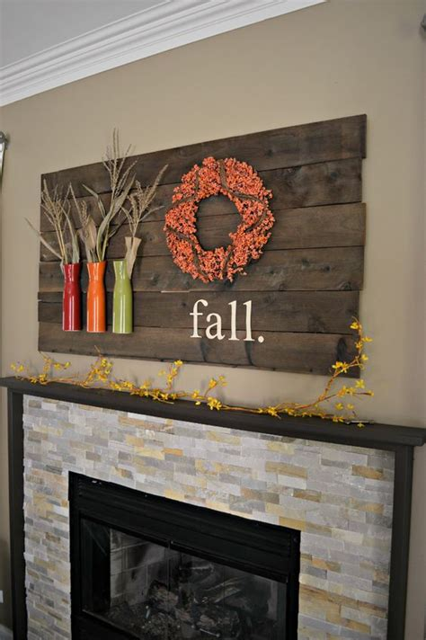 home interior design do it yourself diy fall mantel decor ideas to inspire landeelu com