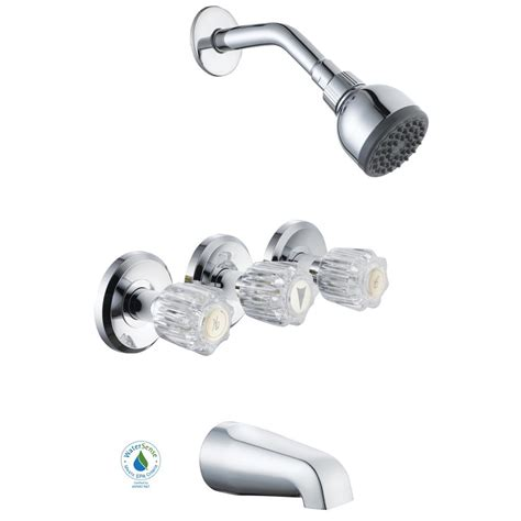 glacier bay bathroom accessories glacier bay aragon 3 handle 1 spray watersense tub and