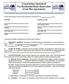 free construction contracts templates 8 construction contract template free sle exle