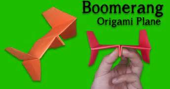 How To Make A Boomerang Origami - best paper plane how to make a paper airplane easy