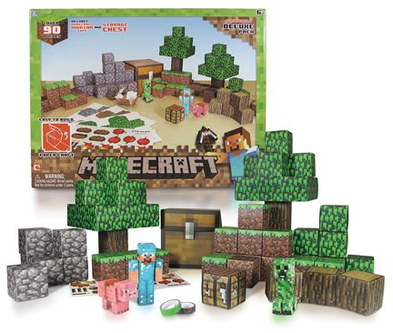 Minecraft Papercraft Overworld Set - minecraft papercraft 90 overworld deluxe set the