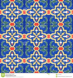 spanich moroccan style vintage ceramic tile stock photos