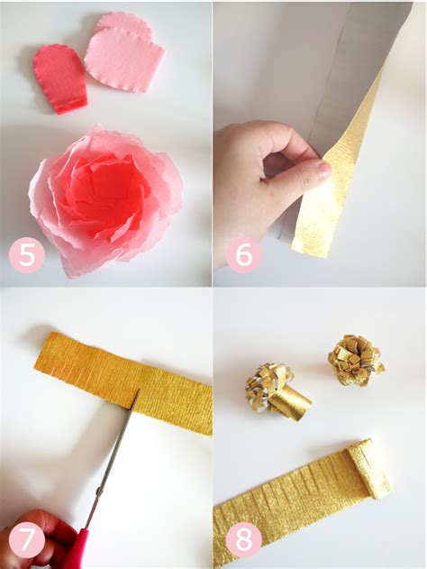 Crepe Paper Craft - diy crepe paper flowers bouquet ideas