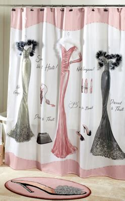 dressed to thrill shower curtain dressed to thrill shabby chic shower curtain from