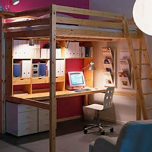 ikea stora queen sized solid pine loft bed singapore