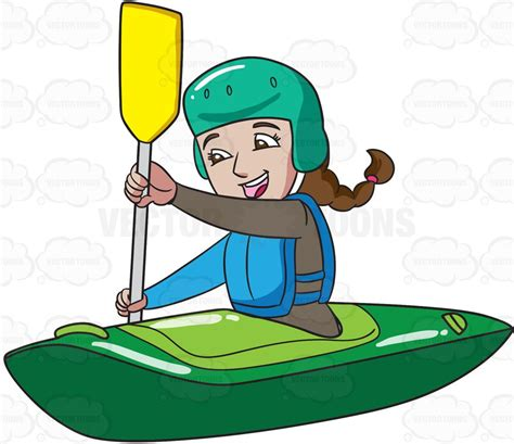 kayak clipart a enjoying time kayaking clipart