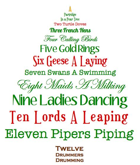 printable lyrics for 12 days of christmas on the first day of christmas the pinterest project