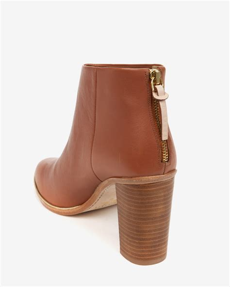 ted baker leather ankle boots in brown lyst
