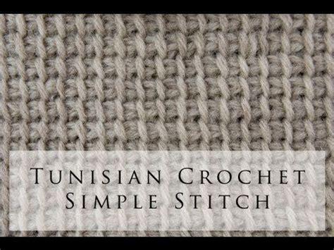 video tutorial tunisian crochet tunisian crochet simple stitch video tutorial