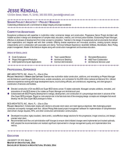 Resume Template Architect Architecture Products Image Architecture Resume Sle