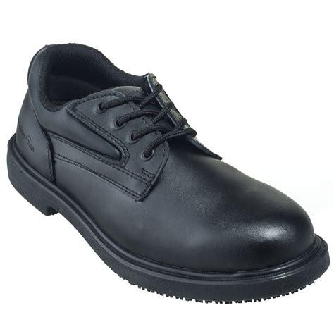 genuine grip shoes genuine grip shoes s 7100 black slip resistant oxford