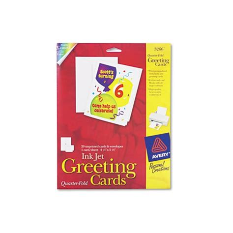 avery printable note cards avery 1 4 fold greeting cards ave3266 shoplet com