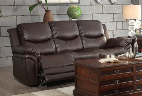 homelegance st louis park reclining sofa set dark brown