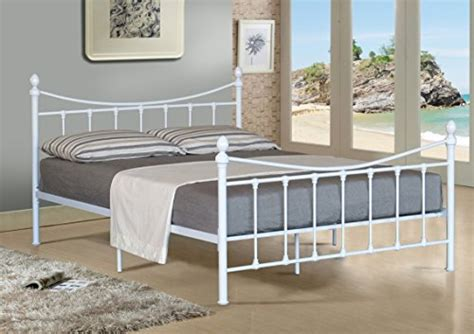 Metal Bed Frames For Sale Uk White Painted Metal Double Bedstead For Sale In Uk