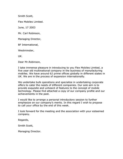 business introduction letters ms word