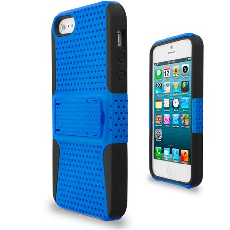 Casing Iphone 5g Grey hybrid mesh heavy duty color cover with stand for iphone 5 5g 5s