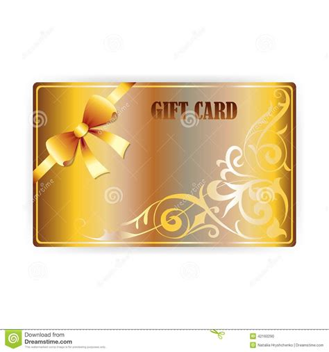 Ignitewoo Gift Create Gift Card Template by Vector Gold Gift Coupon Gift Card Stock Vector Image