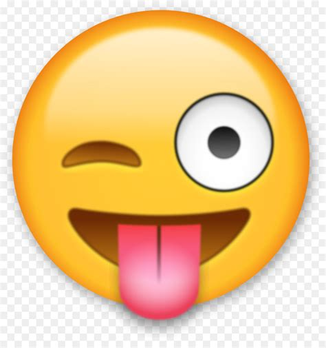 Smiley Sticker Free Download by Iphone Emoji Sticker Clip Art Tongue Png Download 1096