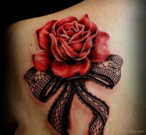rose tattoo on back tattoos designs pictures