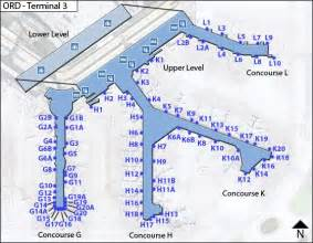 Chicago O Hare Concourse Map by Ord Terminal 3 Concourse G H K And L Bright Evolutions